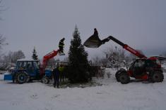 Stavění a rozsvícení Vánočního stromu