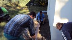 2012- Vybudování okapového chodníku kolem kostela sv. Markéty