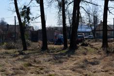 2017- Úklid klestí a úprava terénu kolem hasičské zbrojnice